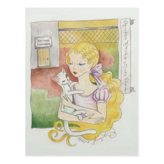Adopte por favor sus tarjetas del arte del mascota tarjetas postales