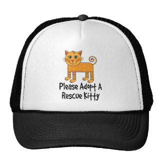 Adopte por favor un regalo del gato del gatito del gorro de camionero