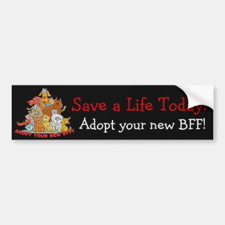 ¡Adopte su nuevo BFF! Pegatina para el parachoques Pegatina Para Auto