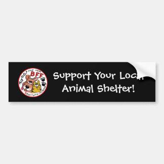 Adopte su rescate siguiente del BFF-Animal Pegatina Para Auto