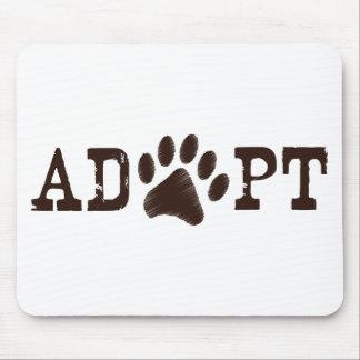 Adopte un animal alfombrilla de ratón