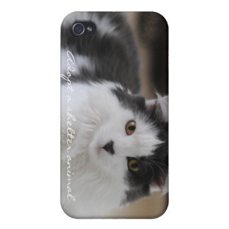 Adopte un animal del refugio iPhone 4/4S fundas