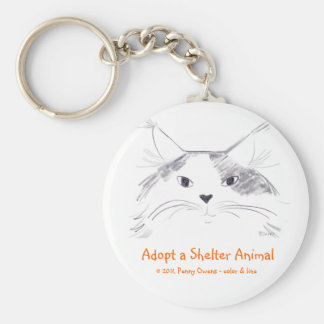Adopte un animal del refugio llavero redondo tipo pin