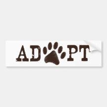 Adopte un animal pegatina de parachoque