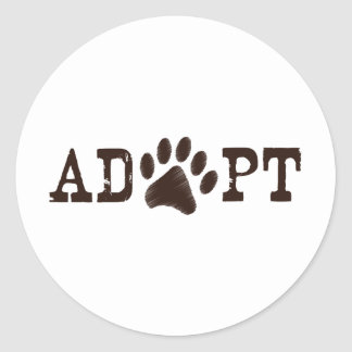 Adopte un animal pegatina redonda
