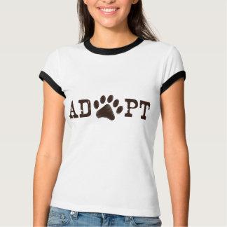 Adopte un animal playera