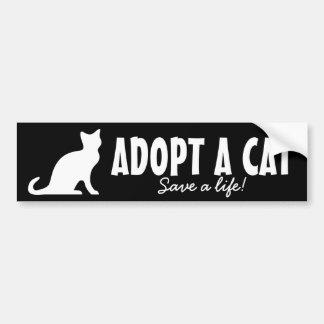 Adopte un bienestar animal de la pegatina para el