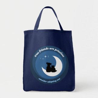 Adopte un bolso del mascota bolsa tela para la compra