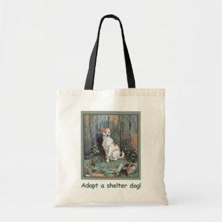 Adopte un bolso del perro del refugio bolsa tela barata