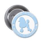 Adopte un botón del caniche pin