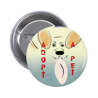 Adopte un botón del mascota pin