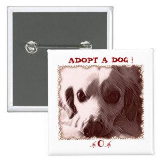 Adopte un botón del perro pin