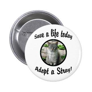 Adopte un botón perdido pin redondo de 2 pulgadas
