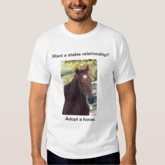 Adopte un caballo camisas