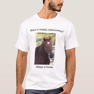 Adopte un caballo playera