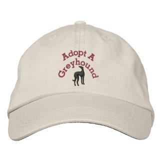 Adopte un galgo gorra de béisbol