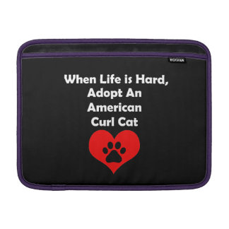 Adopte un gato americano del rizo fundas MacBook