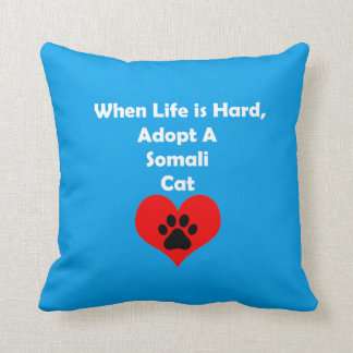 Adopte un gato somalí cojín decorativo