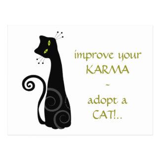 Adopte un gato tarjetas postales