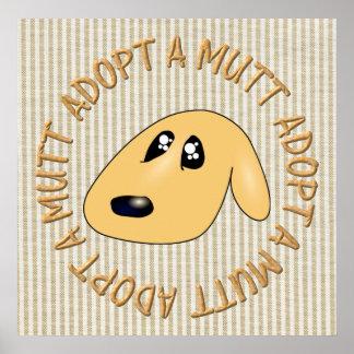 adopte un mutt póster