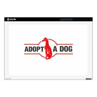 Adopte un perro 43,2cm portátil calcomanía