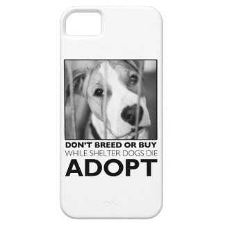 Adopte un perro del refugio iPhone 5 Case-Mate coberturas