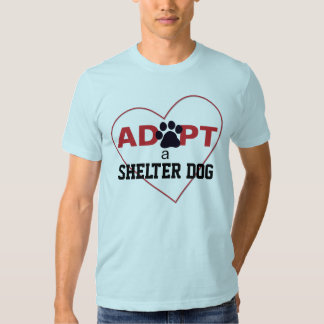 Adopte un perro del refugio remeras