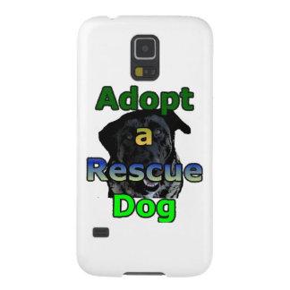Adopte un perro del rescate fundas de galaxy s5