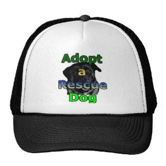 Adopte un perro del rescate gorro de camionero