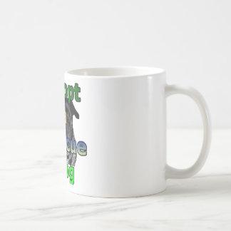 Adopte un perro del rescate taza de café