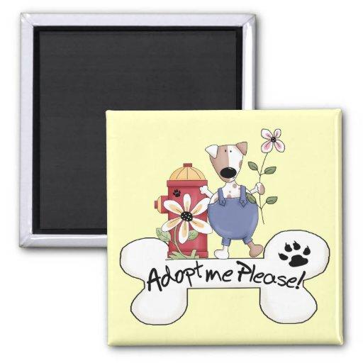 Adopte un perro imanes de nevera