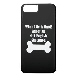 Adopte un perro pastor inglés viejo funda iPhone 7 plus