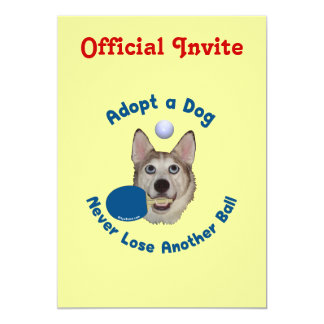 Adopte un ping-pong del perro invitación personalizada