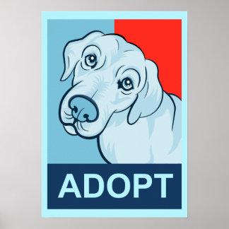 Adopte un poster del perro