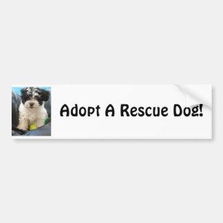 ¡Adopte un rescate Dod Pegatina De Parachoque