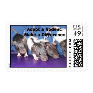 Adopte un roedor sello postal