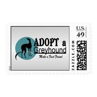 Adopte una adopción del mascota del galgo sellos