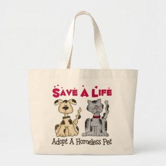 Adopte una bolsa de asas sin hogar del mascota