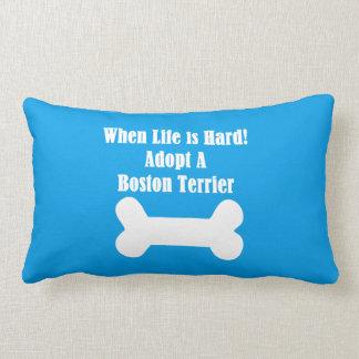 Adopte una Boston Terrier Cojín Lumbar