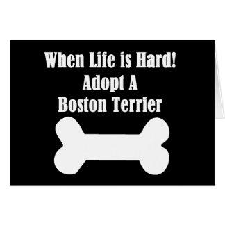 Adopte una Boston Terrier Tarjeta De Felicitación