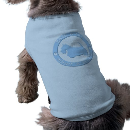 Adopte una camiseta del perro del escocés camisetas mascota