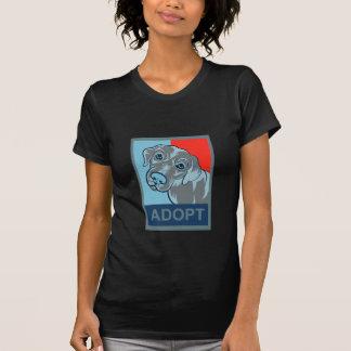 Adopte una camiseta del perro playeras
