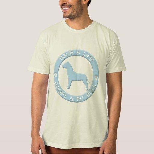 Adopte una camiseta del pitbull playera
