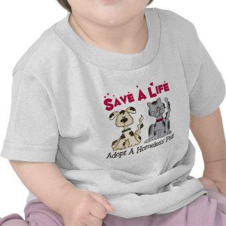 Adopte una camiseta sin hogar del bebé del mascota
