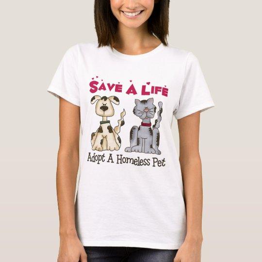 Adopte una camiseta sin hogar del mascota