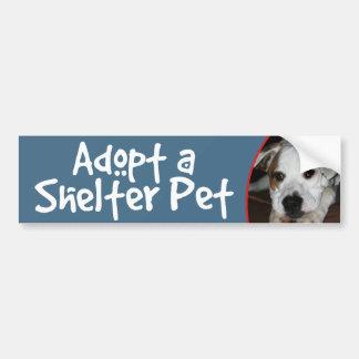 Adopte una mezcla del Dogo-Mastín del mascota del  Etiqueta De Parachoque