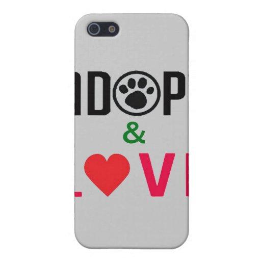 Adopte y ame el caso iPhone4 iPhone 5 Fundas