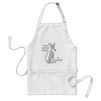 Adopted~Blue Adult Apron