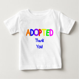 adopted Blue Thank You Baby T-Shirt