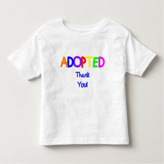 Adopted Blue Thank You Toddler T-shirt